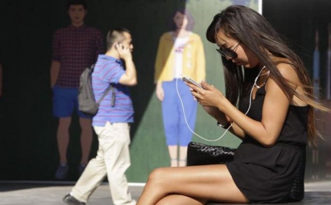Pengguna telepon pintar di Beijing