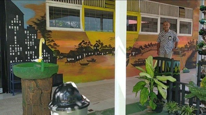 KalselPedia - Mengenal SMPN 33 Banjarmasin, Ada Lukisan Mural Sungai Jingah dan Spot Foto Kekinian