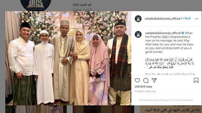 Ini Ucapan Teuku Wisnu ke Ustaz Abdul Somad, UAS Resmi Nikahi Gadis Jombang Fatimah Az Zahra
