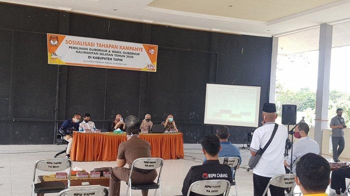KPU Tapin Mulai Sosialisasi Tahapan Kampanye Pilkada Gubernur Kalsel 2020