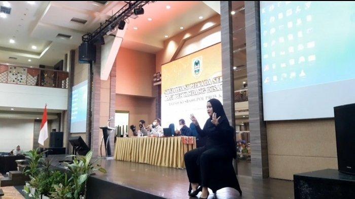 Sosialisasi Pilkada Kalsel 2020 ke Penyandang Disabilitas,  Penerjemah Bahasa Isyarat Pun Dihadirkan