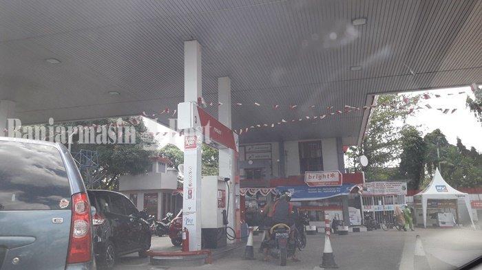 SPBU di Sepanjang Jalan Ahmad Yani antara Banjarmasin dan Banjarbaru
