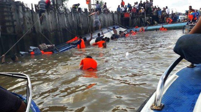 BREAKING NEWS - Speed Boat Tabrak Tunggul di Tanjung Selor, 8  Tewas Puluhan Masih Hilang