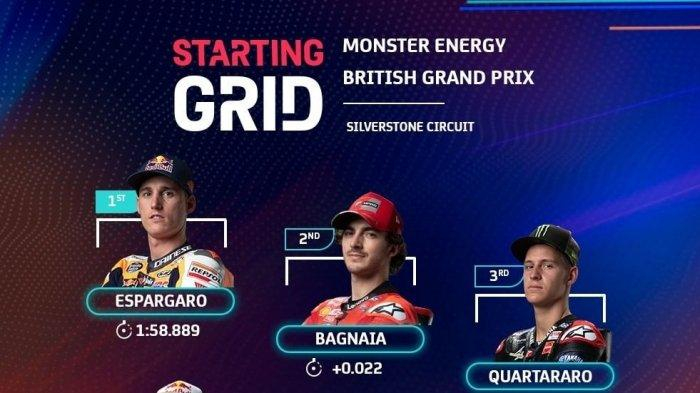 LINK TRANS7! Live Streaming MotoGP Inggris 2021, TV Online Race MotoGP 2021 Fox Sports 2 & Usee TV