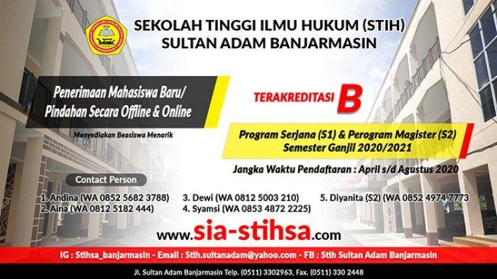 Kampus Sekolah Tinggi Ilmu Hukum Sultan Adam (STIHSA)