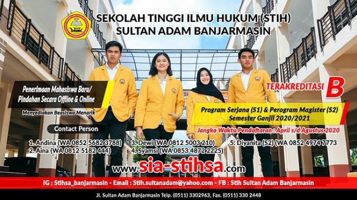 Ayo Kuliah di Kampus Sekolah Tinggi Ilmu Hukum Sultan Adam (STIHSA)