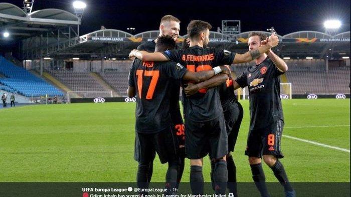 Hasil Liga Europa - Menang Telak Lima Gol, Manchester United Terlalu Perkasa Bagi LASK Linz