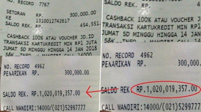 Busyet, Pria Ini Pamer Struk ATM Rp 1 Miliar, Tapi Endingnya Malah Bikin Ngakak Melintir