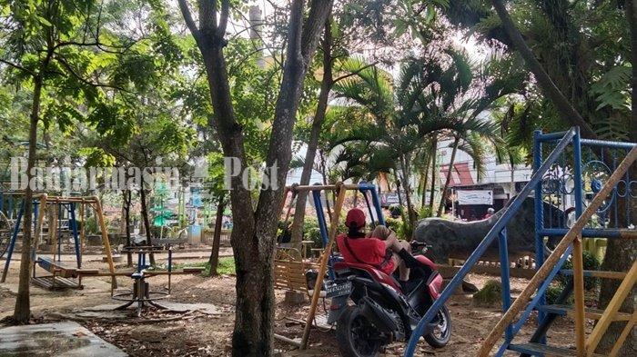 Wisata Kalsel, Taman 17 Mei Kota Rantau Disebut Juga Sebagai Taman Basimban