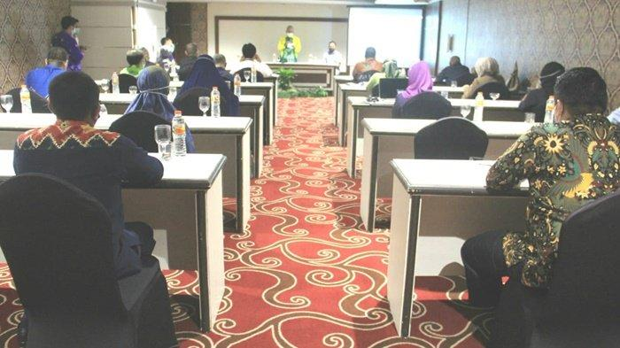 Suasana kegiatan bimtek BLU RSUD H Damanhuri Barabai untuk 2021, Sabtu (12/9/2020).