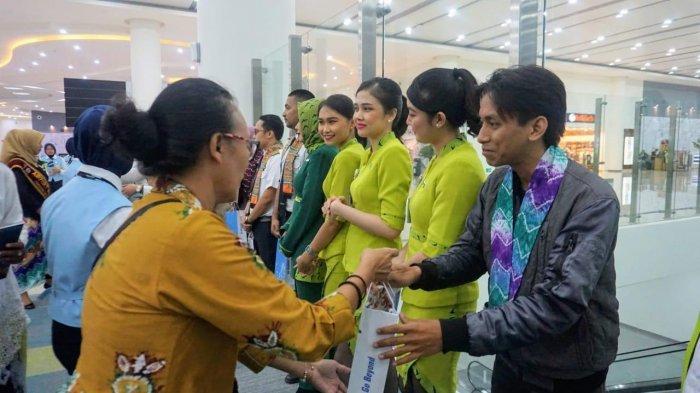 Suasana Malam Pergantian Tahun Baru 2020 di Terminal Bandara Syamsudin Noor, Nuansa Khas Kalsel