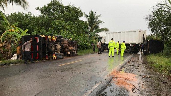 Kecelakaan Kalteng : Kronologis Truk Adu Banteng di Basarang Kapuas, Sopir Tewas Warga Tanahlaut