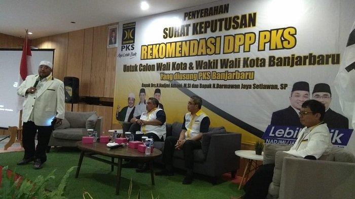 Pilwali Banjarbaru 2020, PKS Berikan Dukungan Kepada Nadjmi-Jaya