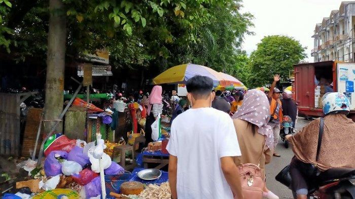 Cuaca Cerah, Pedagang Pasar Bauntung Banjarbaru Kembali Bergairah, Transaksi Kembali Normal