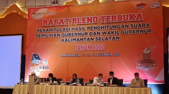 Pleno Rekapitulasi Pilgub Kalsel Ditutup, Paman BirinMU Raih 851.822, Denny Indrayana 843.695.