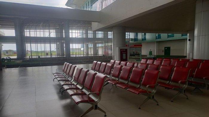 Suasana Terkini Bandara Kertajati Majalengka di Tengah Pandemi Covid-19, Sepi Seperti di Kuburan , foto Jumat (2/4/2021).