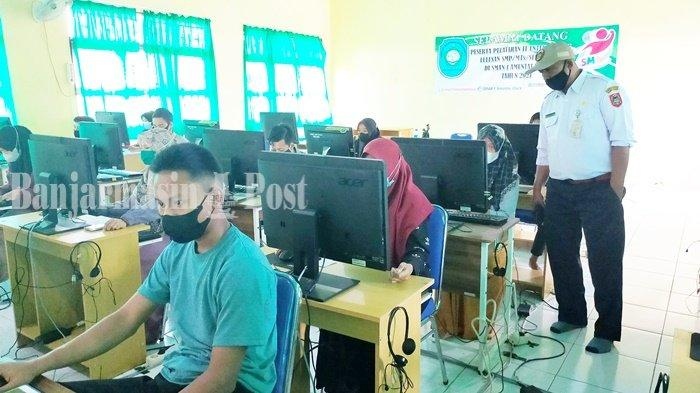 Gladi ANBK di SMAN 1 Amuntai Utara Kabupaten HSU, Server Kadang Down