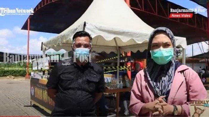 Supoyo, Ketua Umum Banua Koi Club Kalimantan Selatan di lokasi Festival Ikan Koi Bakc ke-3 di Amanah Borneo Park,  Jalan Taruna Bhakti RT 12 RW 4, Kelurahan Palam, Kecamatan Cempaka, Kota Banjarbaru, Sabtu (3/4/2021).