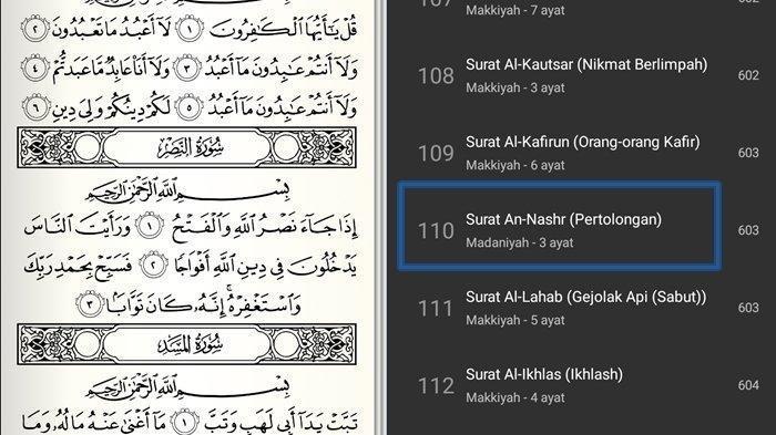 Surah An-Nashr dan Artinya, Surah Tiga Ayat di Al Quran Bermakna Pertolongan Allah