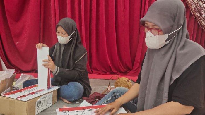 Pilkada Kalsel 2020,  Surat Suara PSU Pilwali Banjarmasin Mulai Dilipat