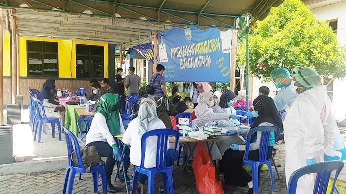Pelaksana PSU Pilgub Kalsel 2020 di Kecamatan Martapura Jalani Swab Antigen