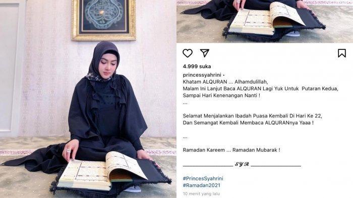 Perjalanan Tadarus Al Quran Syahrini, Ini Penampilan Istri Rieno Barack Saat Umumkan Telah Khatam