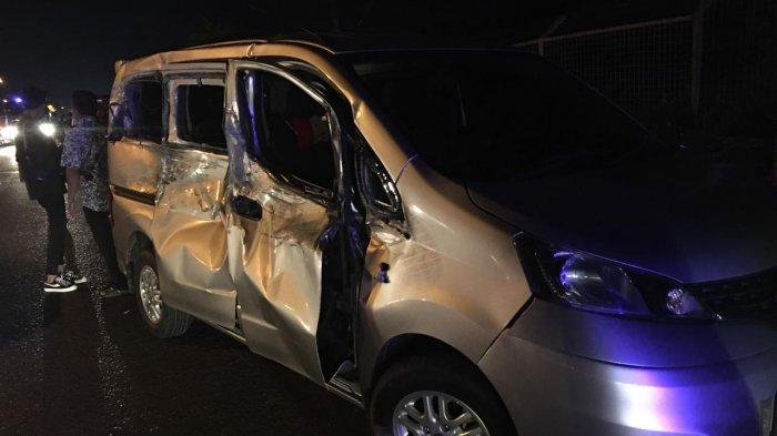 Kecelakaan Kalsel, Tabrakan BeruntunTiga Mobil dan Satu Motor di Depan Asrama Haji Banjarbaru