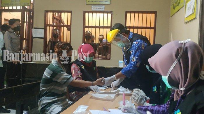 18 Tahanan Polres HST Rapid Tes Sebelum Dipindahkan ke Rutan Barabai