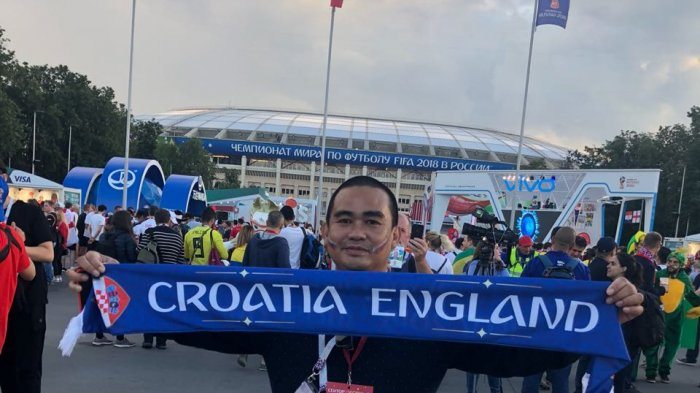 Wah! Pengusaha Banua Ini Tonton Langsung Piala Dunia 2018