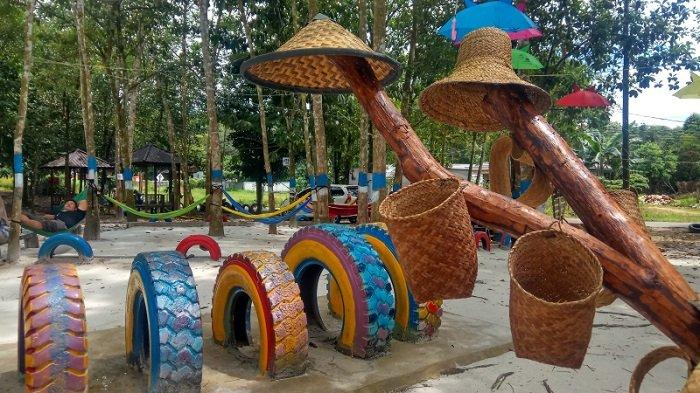 Super Asyik, Taman Burung Hutan Kota Tabalong Ada Arena Bermain, Rumah Pohon dan Wifi Gratis