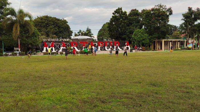 Wisata Kalsel, Taman CBS Sering Digunakan Untuk Berolahraga Anak-anak Hingga Remaja