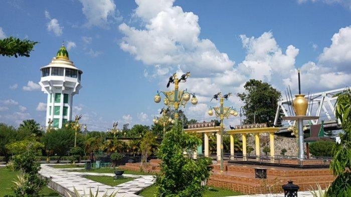 Wisata Kalteng, Taman Kota Kasongan Kabupaten Katingan, Berdekatan Dengan Masjid Besar
