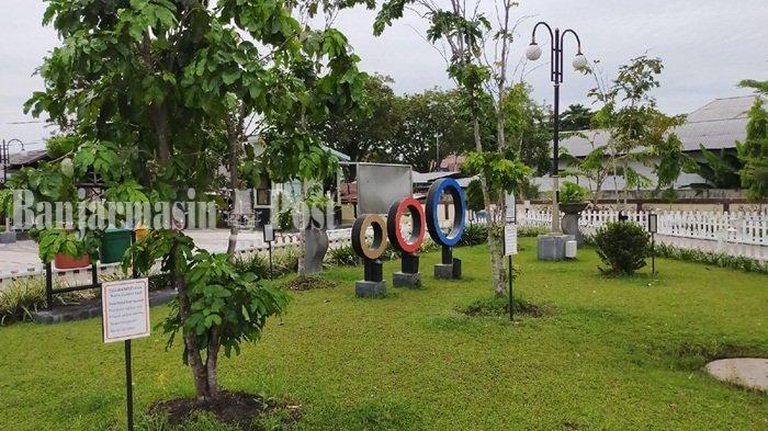 Ada Fasilitas Permainan Tradisional Badaku di Taman Palindangan Kandangan