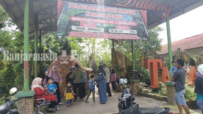 Taman Satwa Banjarmasin Ramai Pengunjung, Zona Primata dan Aquarium Jadi Favorit