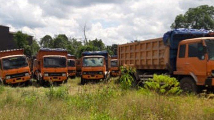 Satreskrim Polres Tabalong Temukan Tambang Batu Gamping Diduga Ilegal, Amankan 10 Dump Truk