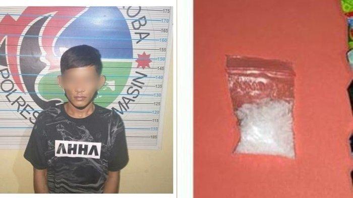 Ditangkap Petugas Satlantas saat Ngebut, Pemuda Banjarmasin Ini Buang 4,74 Gram Sabu