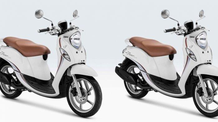 Tampilan Yamaha Fino 125 varian tipe Fino Premium.
