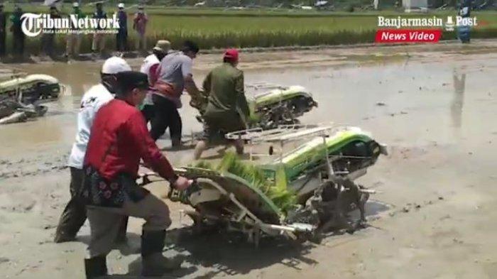 Video Gubernur Kalsel Gelar Panen dan Tanam Padi di Tapin