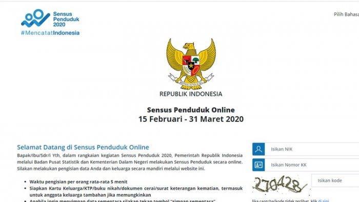 Simak Cara Pengisian dan Daftar Pertanyaan Sensus Penduduk Online 2020, Besok Berakhir