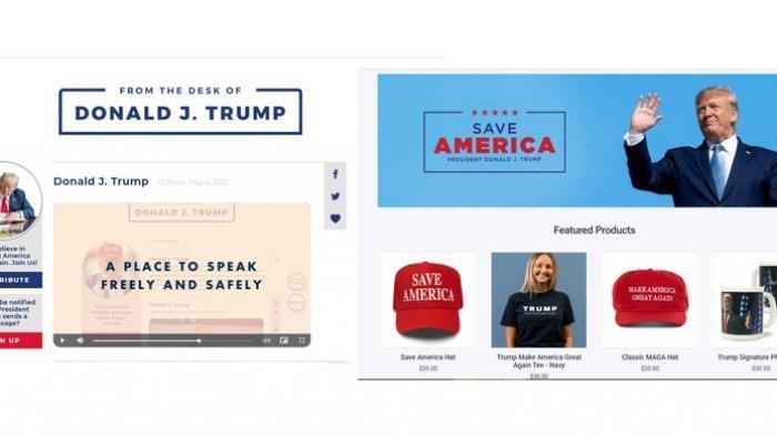Tak Bisa Main Facebook, Twitter dan Youtube, Donald Trump Bikin Web Layaknya Blog Pribadi