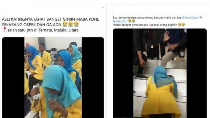 Video Viral Ospek Mahasiswa Minum Air Campur Ludah, Kemenristek Dikti Serukan Hentikan Perpeloncoan