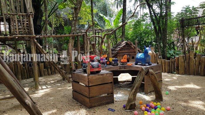 Wisata Kalsel, Rumah Bubungan hingga Kuda-kudaan di Taman Bakuang Kabupaten Tala
