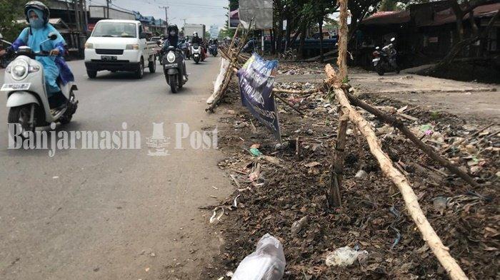 Masih Ada Warga Buang Sampah di TPS yang Sudah Ditutup DLH Kota Banjarmasin
