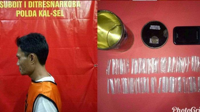 Petugas Ditnarkoba Polda Kalsel Kaget Temukan Temukan 62 Paket Sabu Siap Edar di Kaleng Rokok