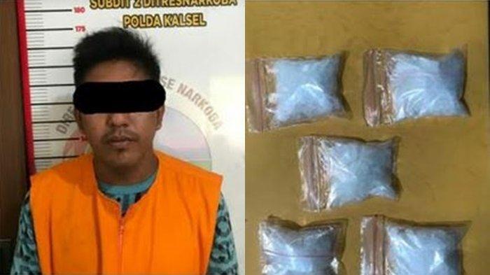 Narkoba Kalsel :Sembunyikan 5 Paket Sabu, Pria Banjarmasin Ini Mengaku Hanya Dititipi