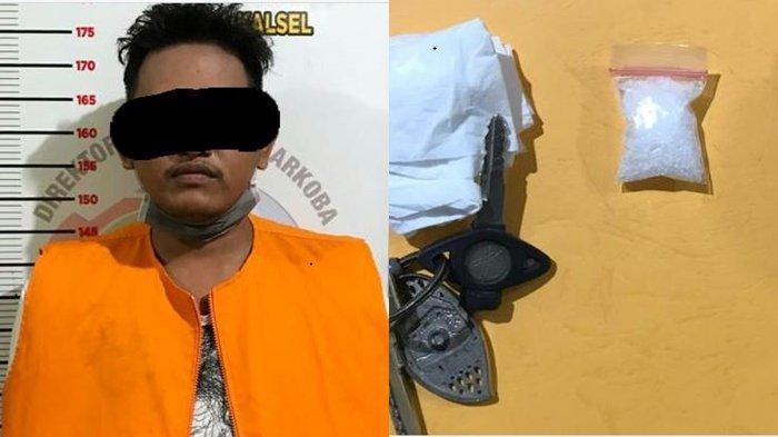 Narkoba Kalsel :Tak Kenali Petugas, Pemuda Banjarmasin Ini Serahkan 1 Paket Sabu ke Polisi Polda