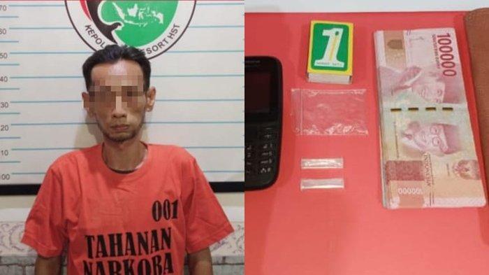 Narkoba Kalsel : Geledah Rumah Bandar di HST, Polisi Sita 2 Paket Sabu