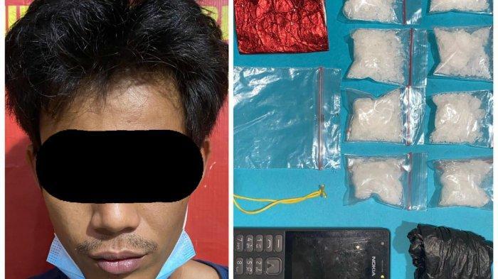 Narkoba Kalsel, Simpan 8 Paket Sabu di Belakang Kulkas, Warga Banjarmasin Pasrah Diciduk Petugas