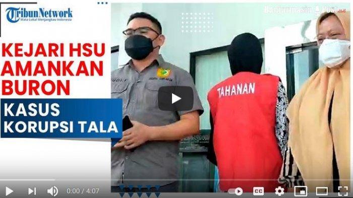 Tersangka kasus korupsi dana desa Tala diamankan petugas Kejari HSU.