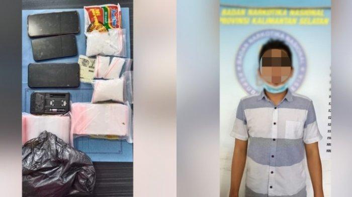 Petugas BNNP Kalsel Amankan 3 Orang dan 200 Gram Sabu dalam Bungkus Mi di Gambut